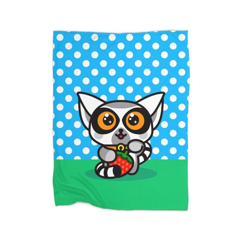 Lucky Lemur Home Blanket by SuperHappyMagic
