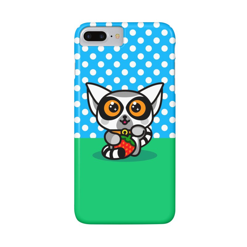Lucky Lemur in iPhone 7 Plus Phone Case Slim by StudioDelme