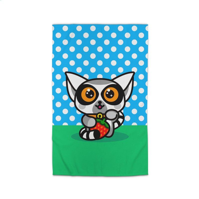 Lucky Lemur Home Rug by SuperHappyMagic