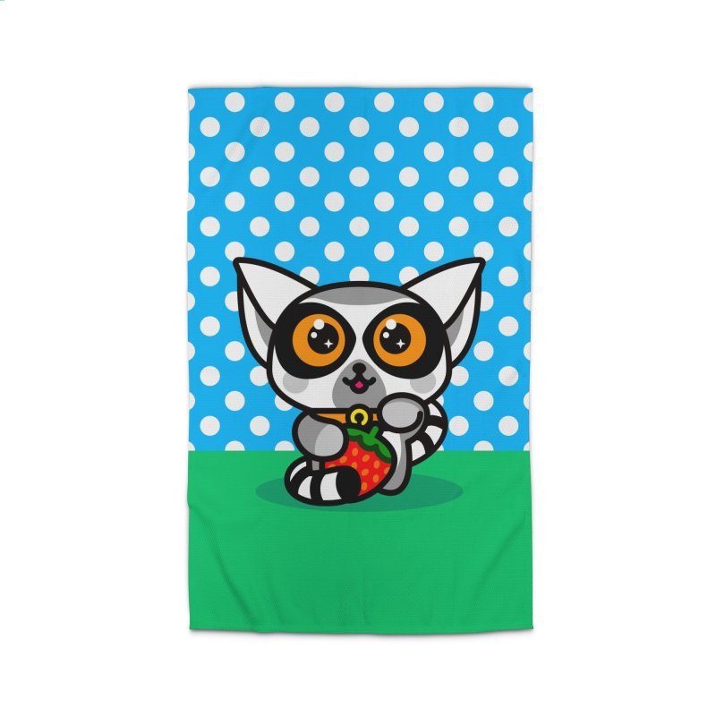 Lucky Lemur Home Rug by SuperHappyMagic