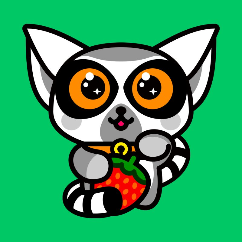 Lucky Lemur Kids T-shirt by SuperHappyMagic