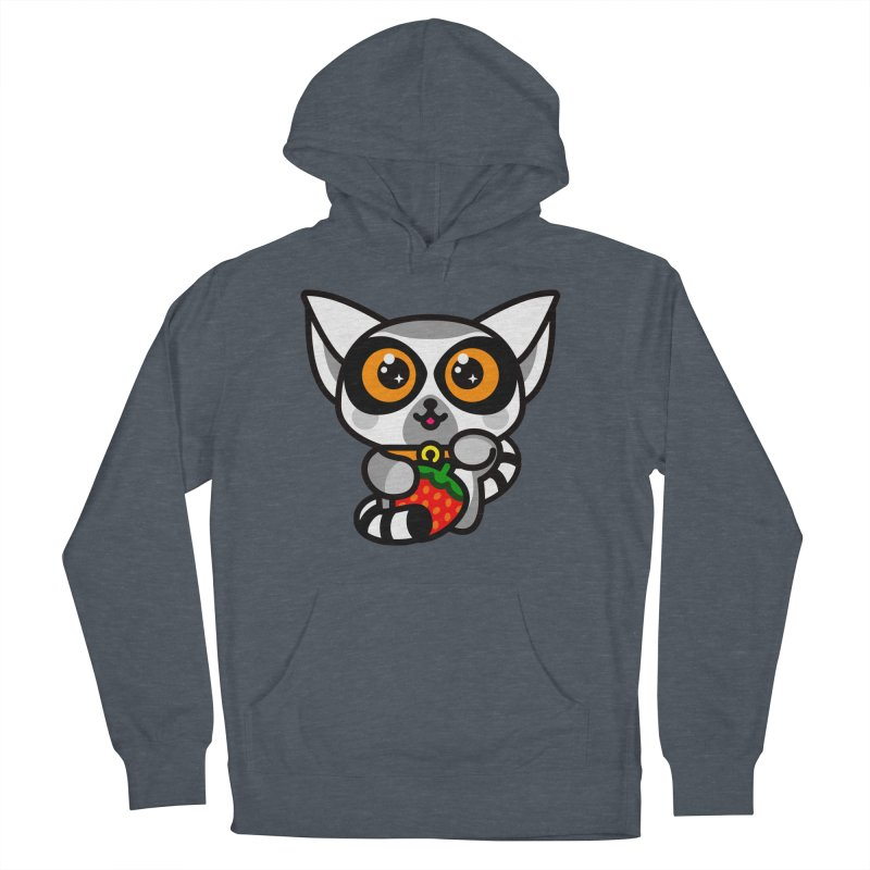 Lucky Lemur Women's French Terry Pullover Hoody by StudioDelme