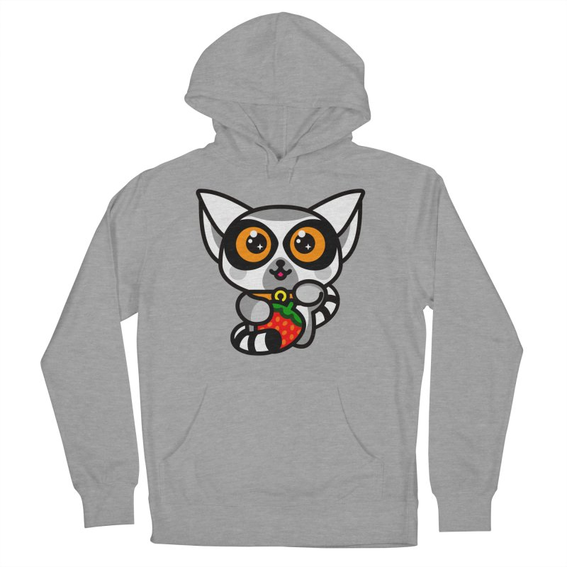 Lucky Lemur Women's French Terry Pullover Hoody by SuperHappyMagic