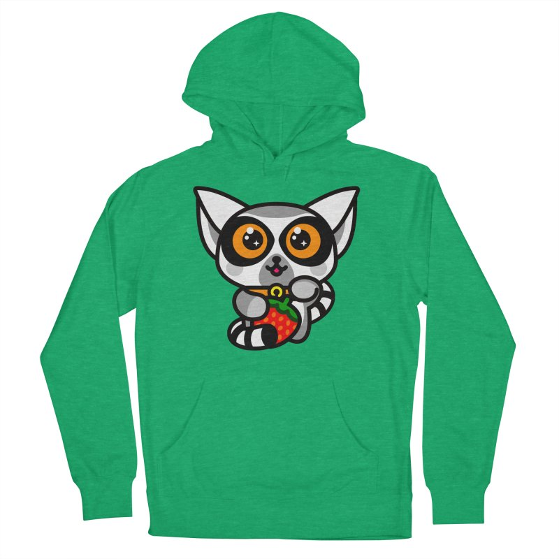 Lucky Lemur Men's Pullover Hoody by SuperHappyMagic