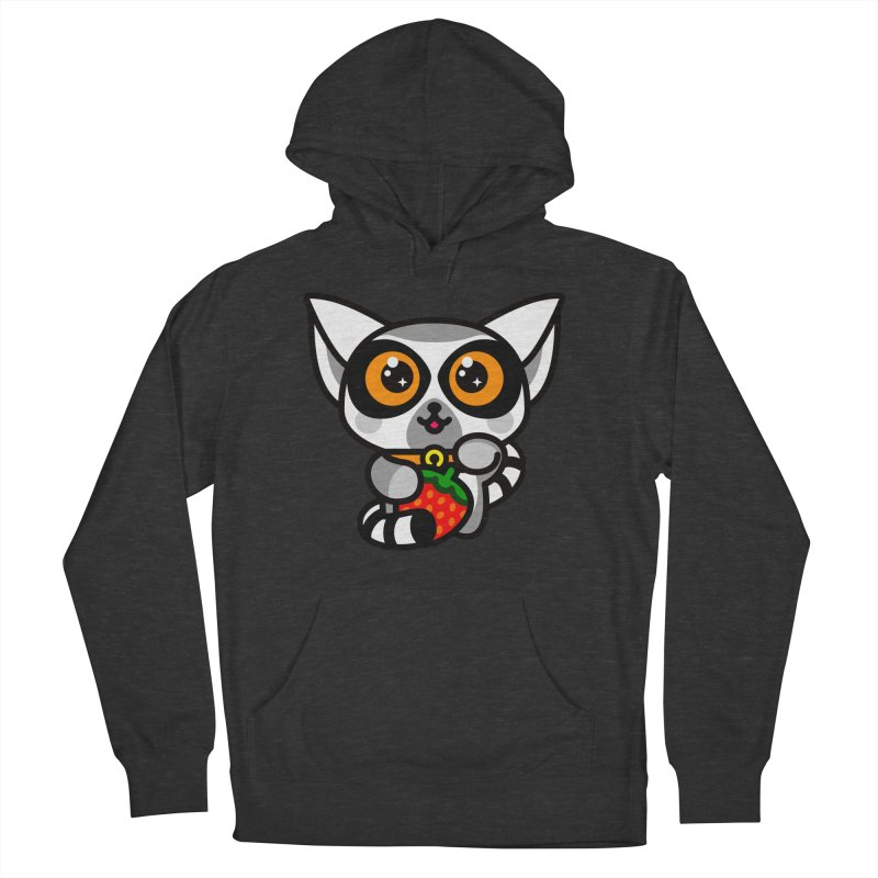Lucky Lemur Men's French Terry Pullover Hoody by SuperHappyMagic