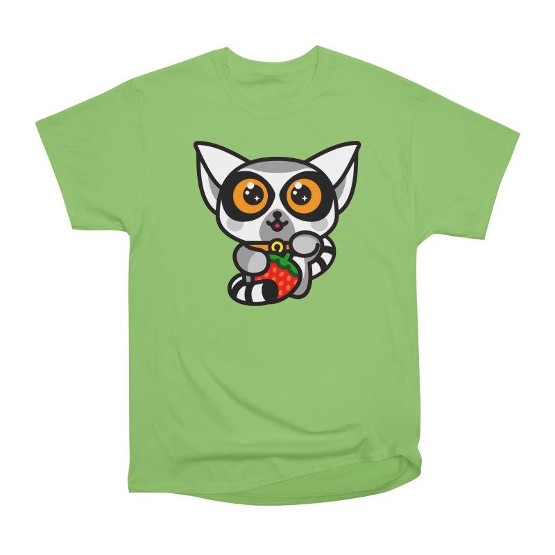 Lucky Lemur Men's Heavyweight T-Shirt by StudioDelme