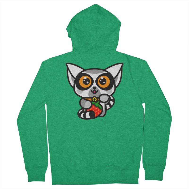 Lucky Lemur Women's French Terry Zip-Up Hoody by SuperHappyMagic