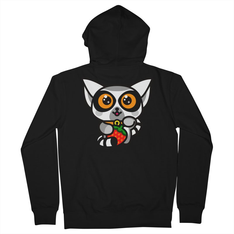 Lucky Lemur Women's Zip-Up Hoody by SuperHappyMagic