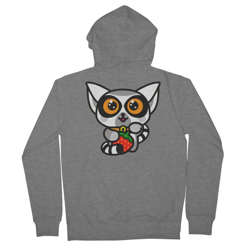 Lucky Lemur Men's French Terry Zip-Up Hoody by StudioDelme