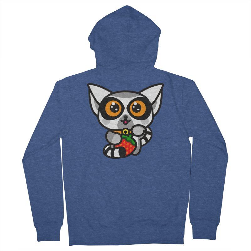 Lucky Lemur Men's French Terry Zip-Up Hoody by SuperHappyMagic