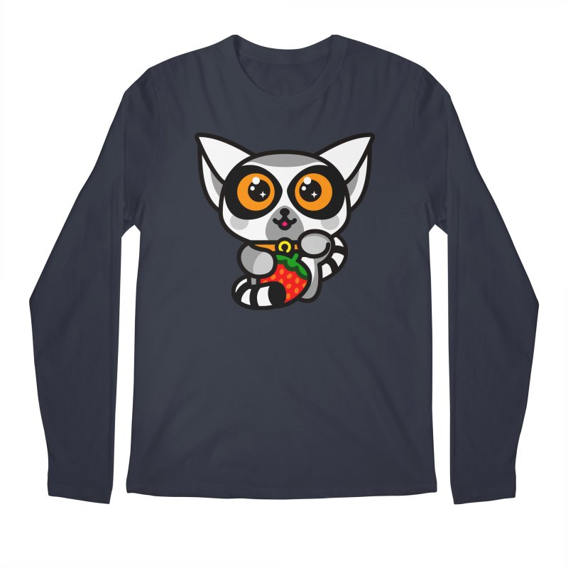 Lucky Lemur Men's Regular Longsleeve T-Shirt by SuperHappyMagic