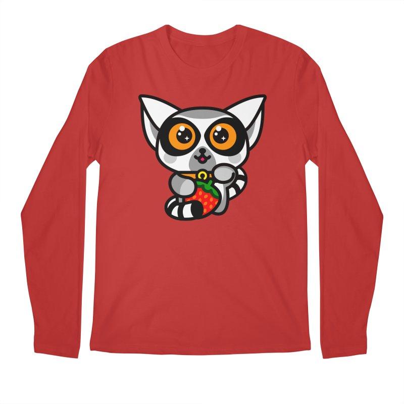 Lucky Lemur Men's Regular Longsleeve T-Shirt by SuperHappyMagic