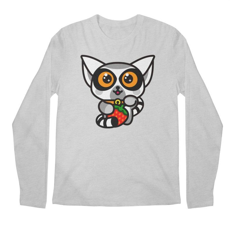 Lucky Lemur Men's Longsleeve T-Shirt by SuperHappyMagic