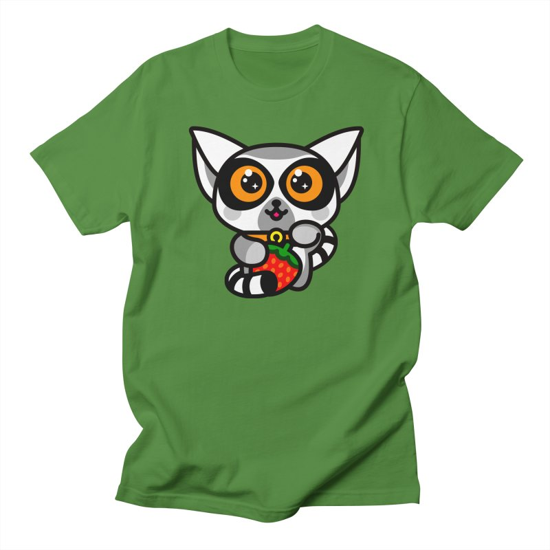 Lucky Lemur Men's T-Shirt by SuperHappyMagic