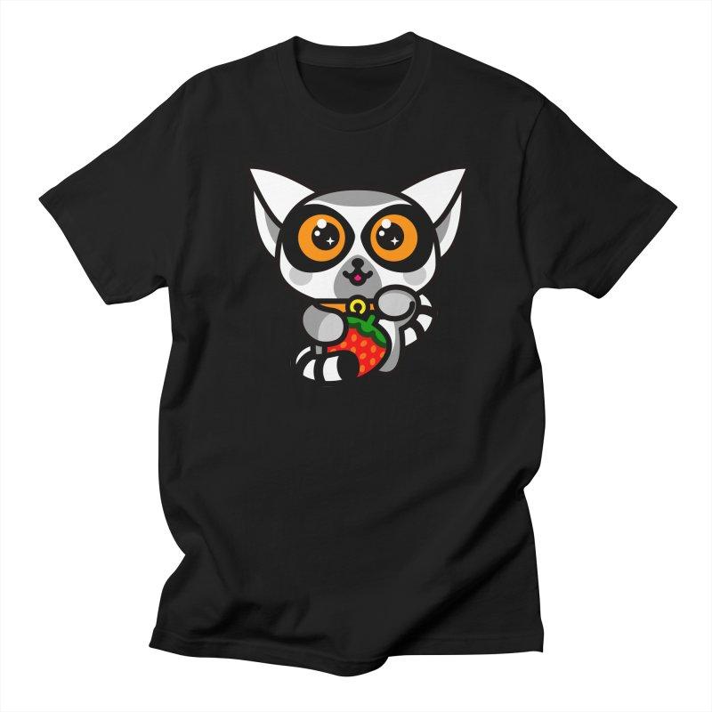 Lucky Lemur Men's Regular T-Shirt by SuperHappyMagic