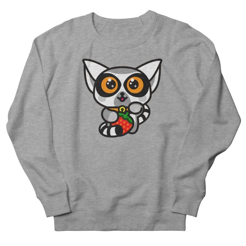 Lucky Lemur Men's French Terry Sweatshirt by SuperHappyMagic