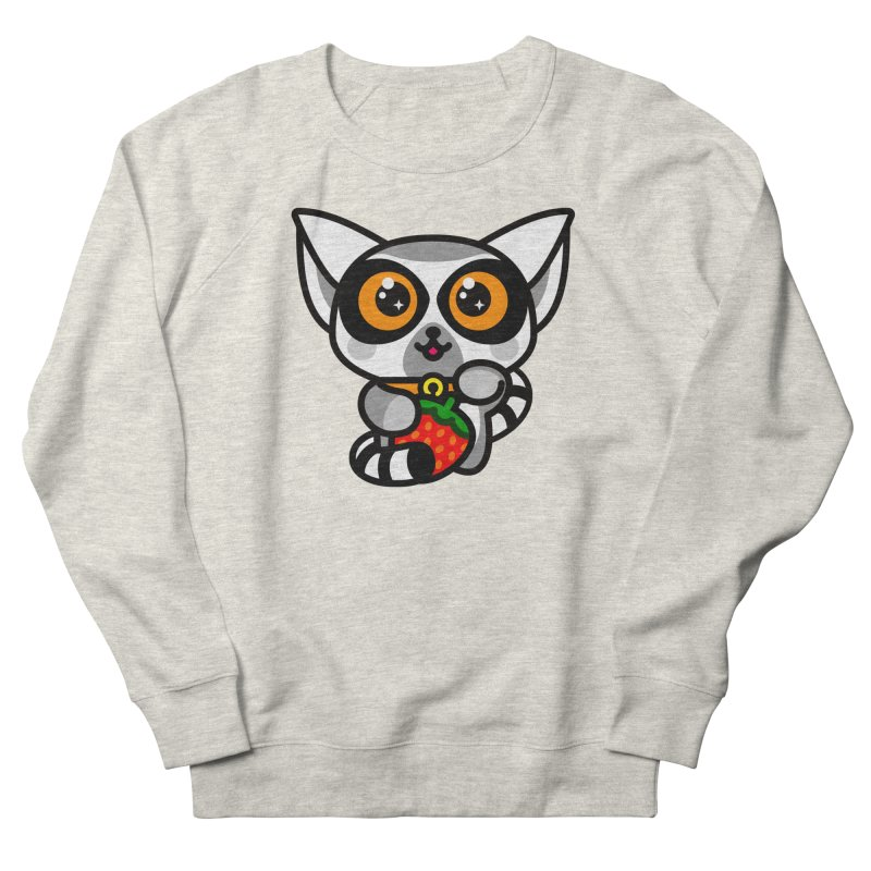 Lucky Lemur Men's French Terry Sweatshirt by StudioDelme