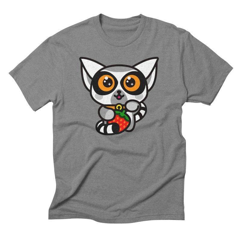 Lucky Lemur Men's Triblend T-Shirt by StudioDelme