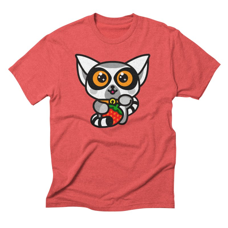Lucky Lemur Men's Triblend T-Shirt by SuperHappyMagic