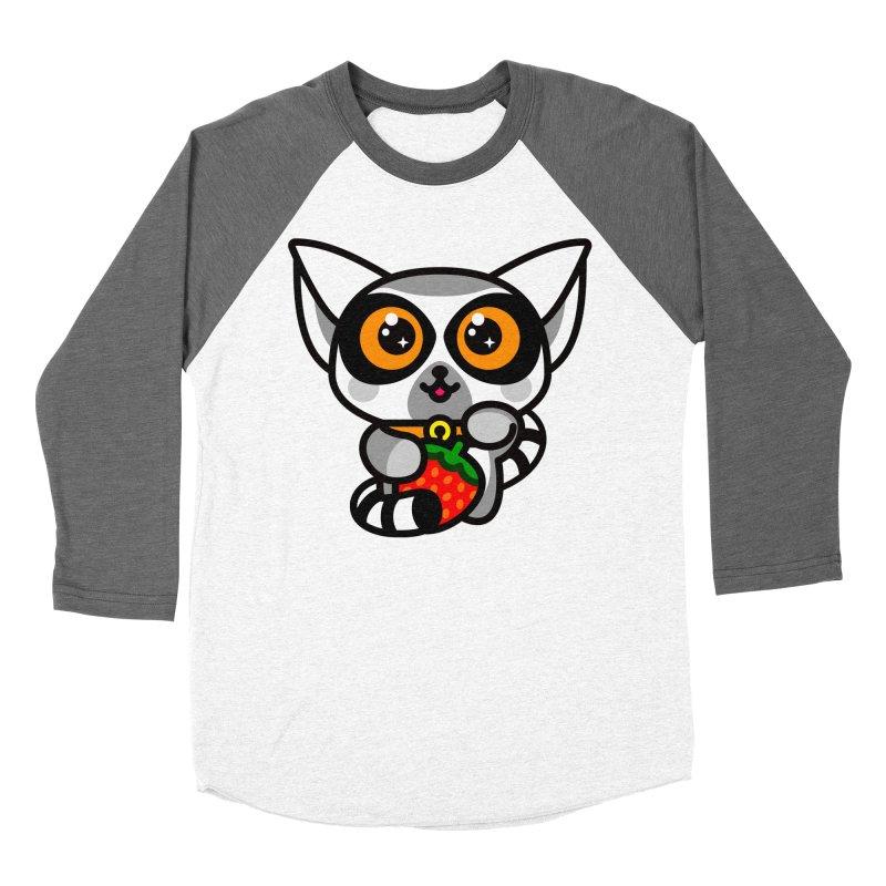 Lucky Lemur Women's Baseball Triblend T-Shirt by SuperHappyMagic