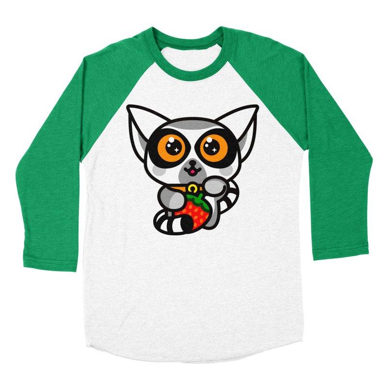 Lucky Lemur Men's Baseball Triblend T-Shirt by SuperHappyMagic