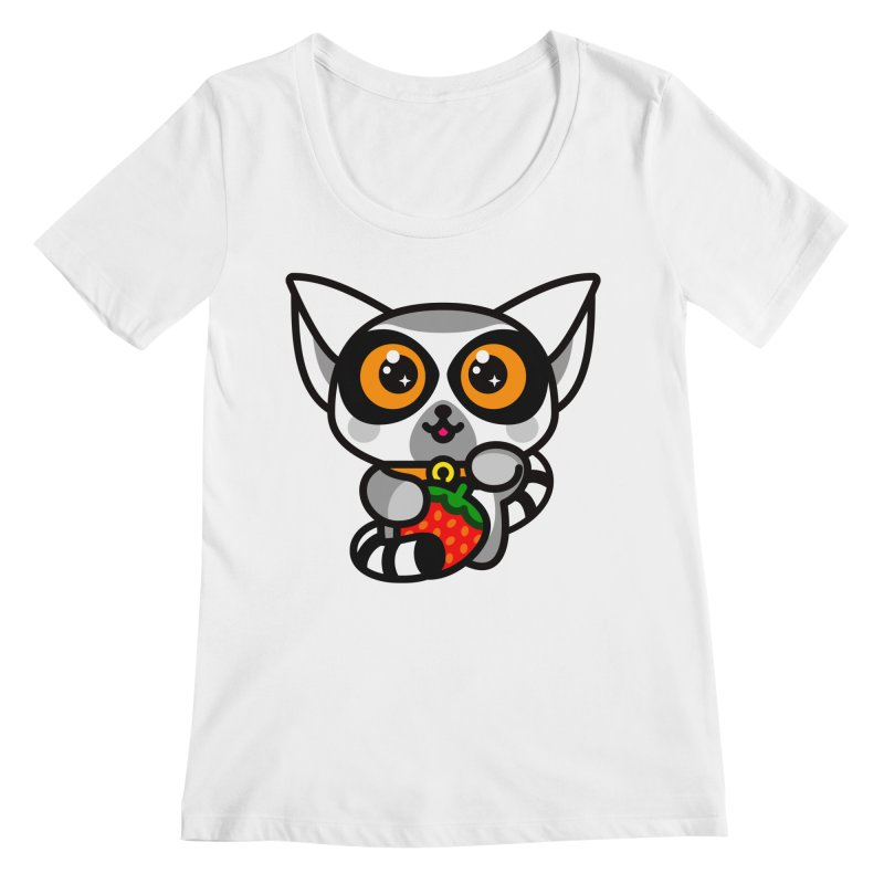 Lucky Lemur Women's Regular Scoop Neck by SuperHappyMagic