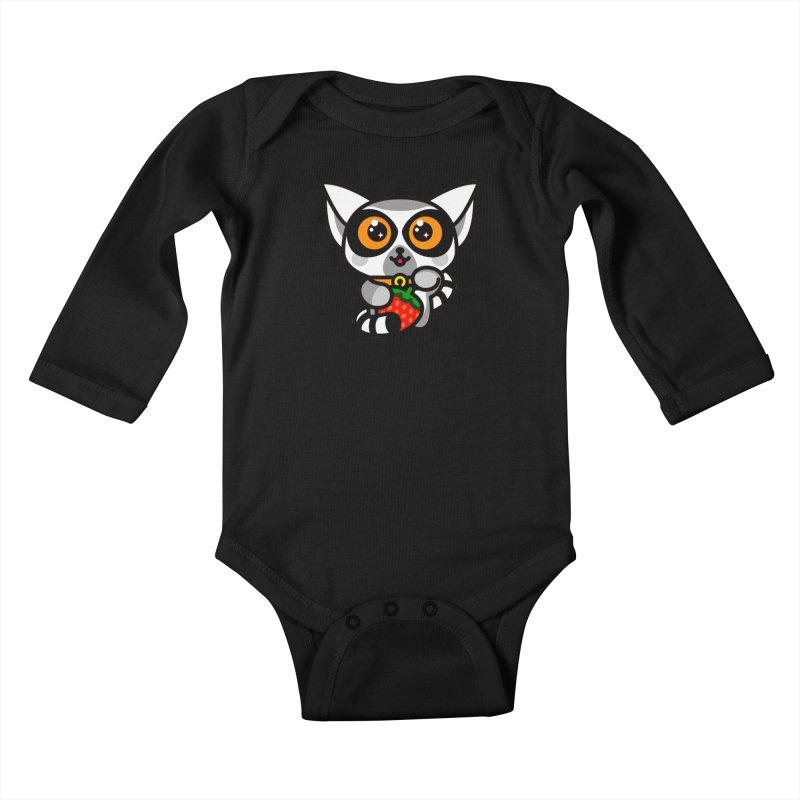 Lucky Lemur Kids Baby Longsleeve Bodysuit by SuperHappyMagic