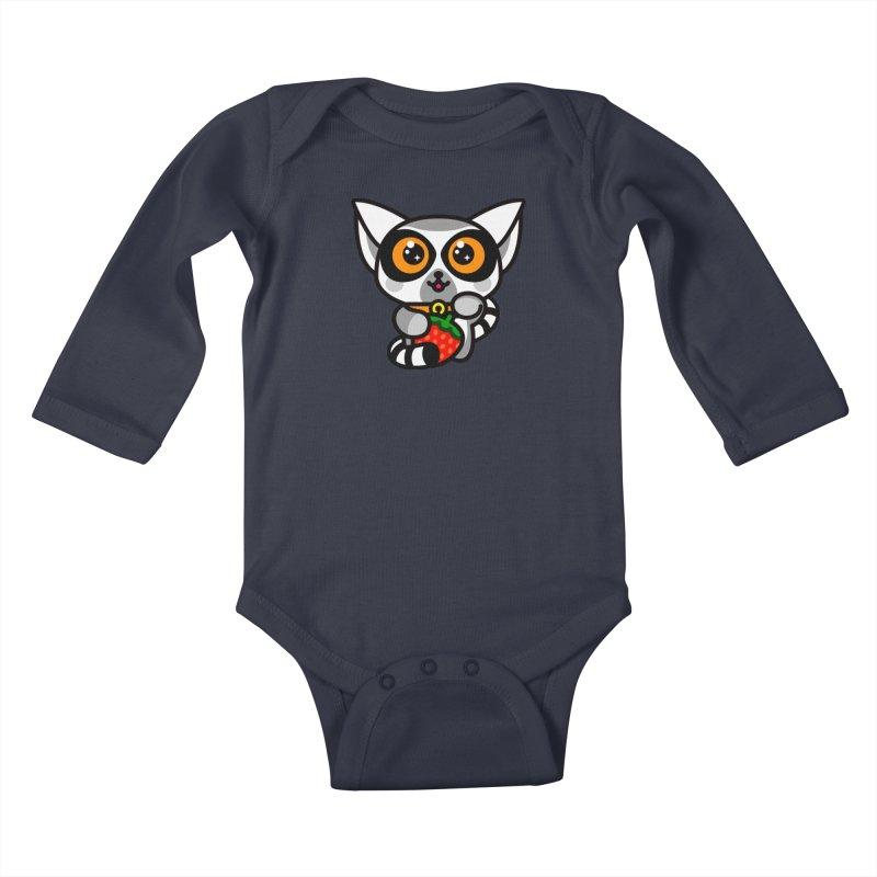 Lucky Lemur Kids Baby Longsleeve Bodysuit by StudioDelme