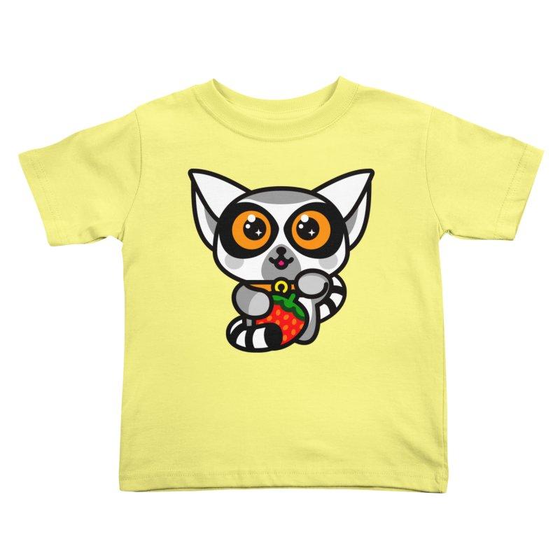 Lucky Lemur Kids Toddler T-Shirt by SuperHappyMagic