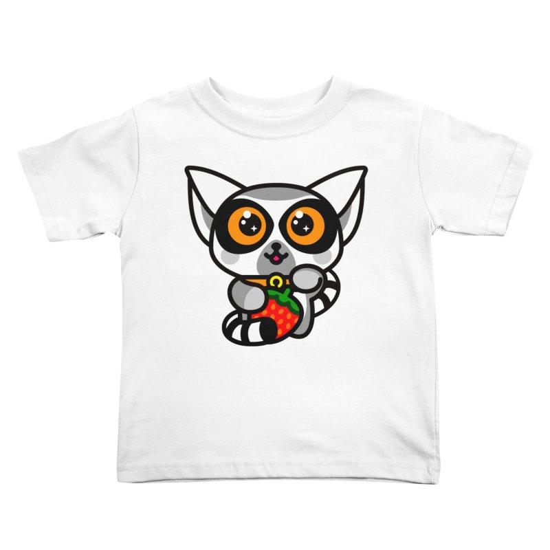 Lucky Lemur Kids Toddler T-Shirt by SuperHappyMagic