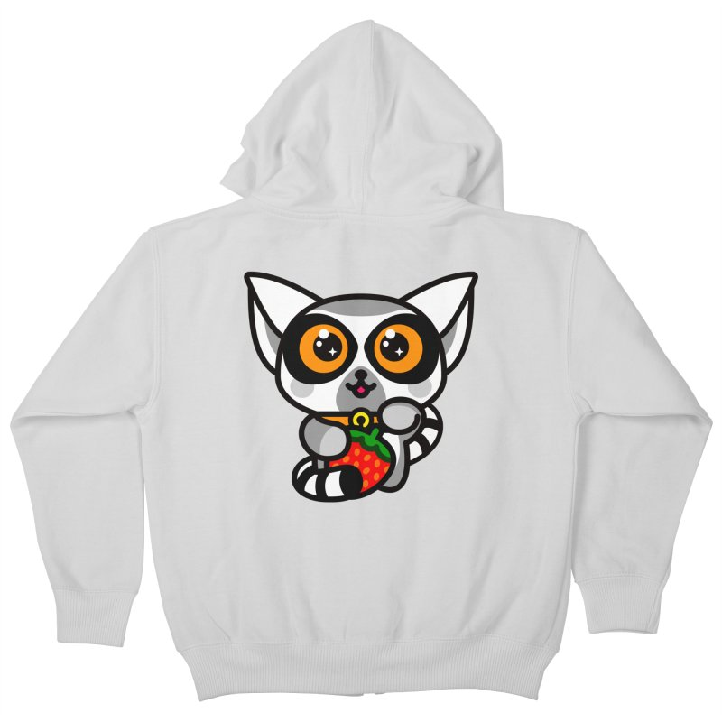 Lucky Lemur Kids Zip-Up Hoody by SuperHappyMagic