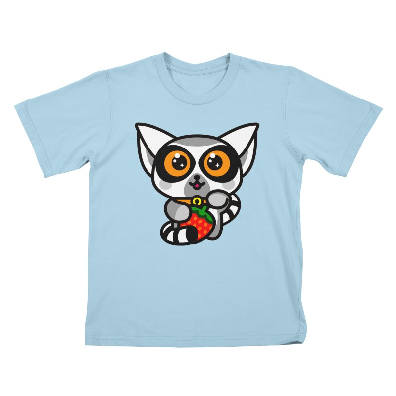 Lucky Lemur Kids T-Shirt by StudioDelme