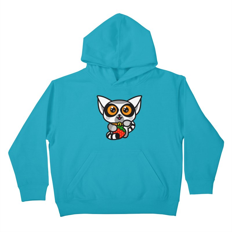 Lucky Lemur Kids Pullover Hoody by SuperHappyMagic