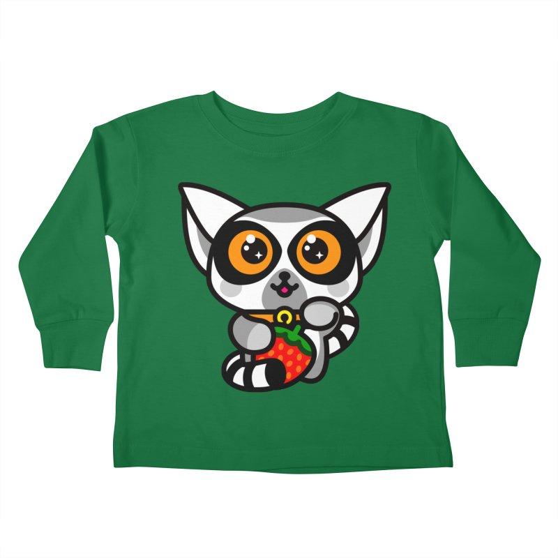 Lucky Lemur Kids Toddler Longsleeve T-Shirt by SuperHappyMagic