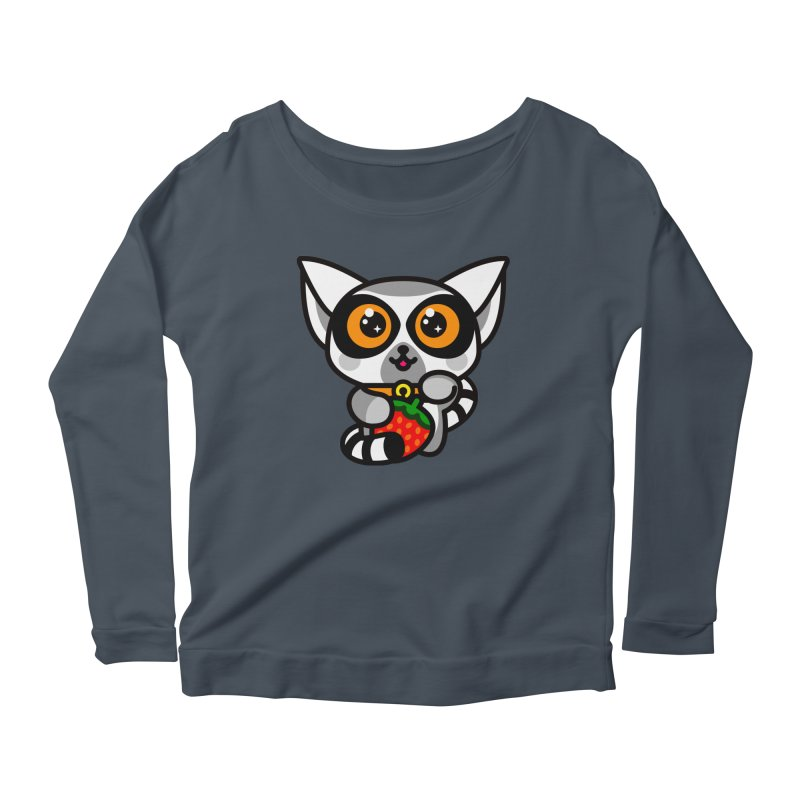 Lucky Lemur Women's Scoop Neck Longsleeve T-Shirt by SuperHappyMagic