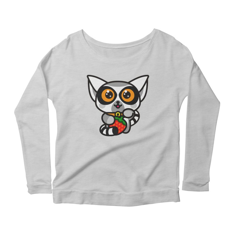 Lucky Lemur Women's Longsleeve Scoopneck  by SuperHappyMagic