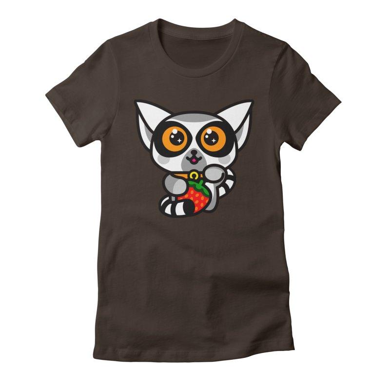 Lucky Lemur Women's Fitted T-Shirt by StudioDelme
