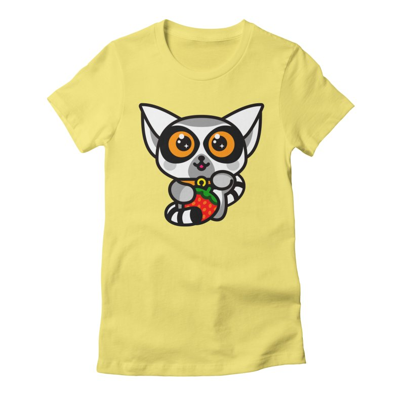 Lucky Lemur Women's Fitted T-Shirt by SuperHappyMagic