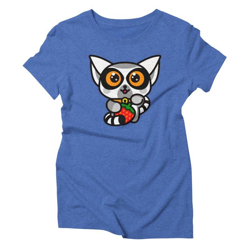 Lucky Lemur Women's Triblend T-shirt by SuperHappyMagic