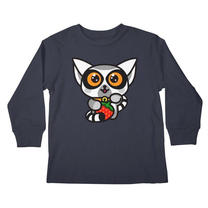 Lucky Lemur Kids Longsleeve T-Shirt by StudioDelme