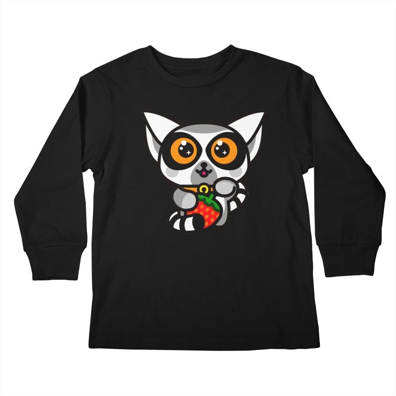 Lucky Lemur Kids Longsleeve T-Shirt by SuperHappyMagic