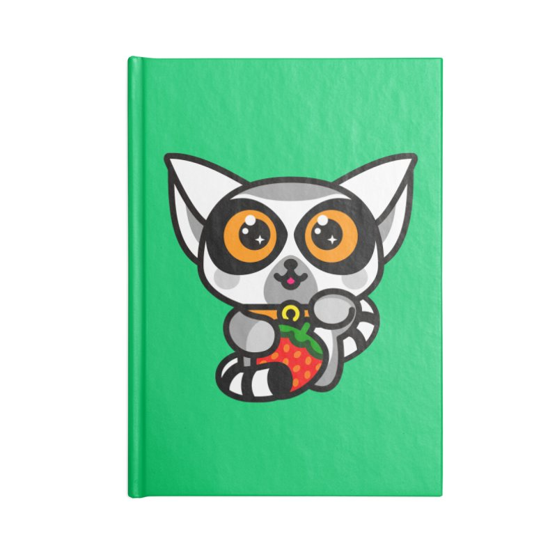 Lucky Lemur Accessories Lined Journal Notebook by StudioDelme