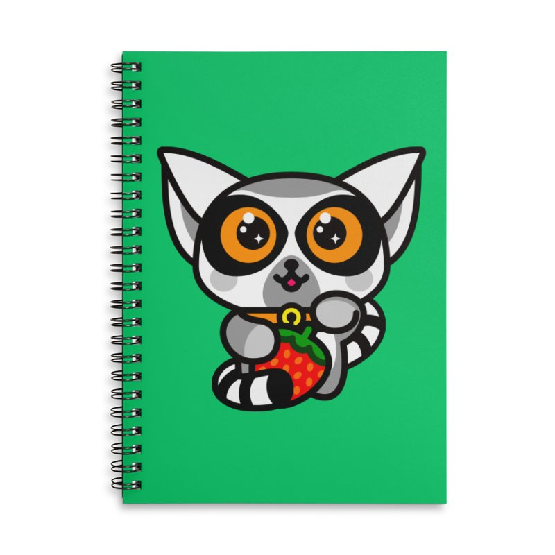 Lucky Lemur Accessories Lined Spiral Notebook by StudioDelme