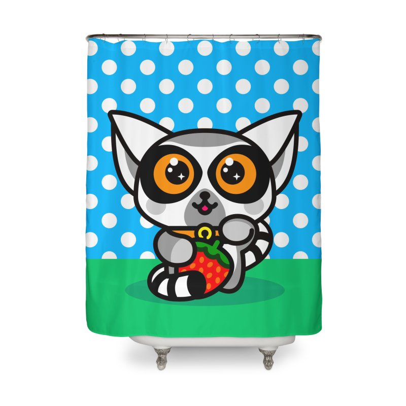 Lucky Lemur Home Shower Curtain by SuperHappyMagic