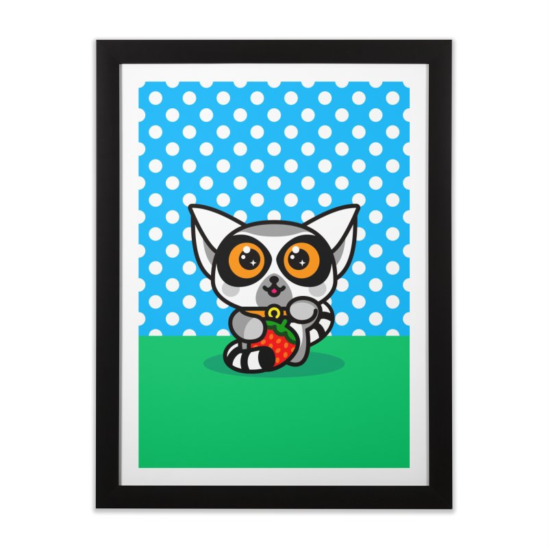Lucky Lemur Home Framed Fine Art Print by SuperHappyMagic