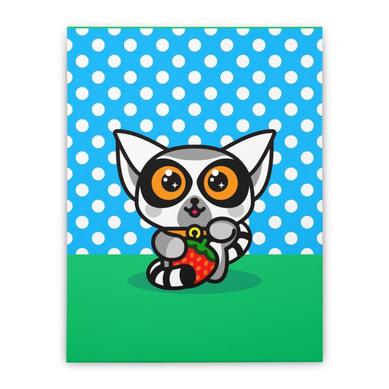 Lucky Lemur Home Stretched Canvas by SuperHappyMagic