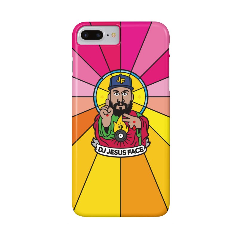 DJ Jesus Face in iPhone 7 Plus Phone Case Slim by SuperHappyMagic