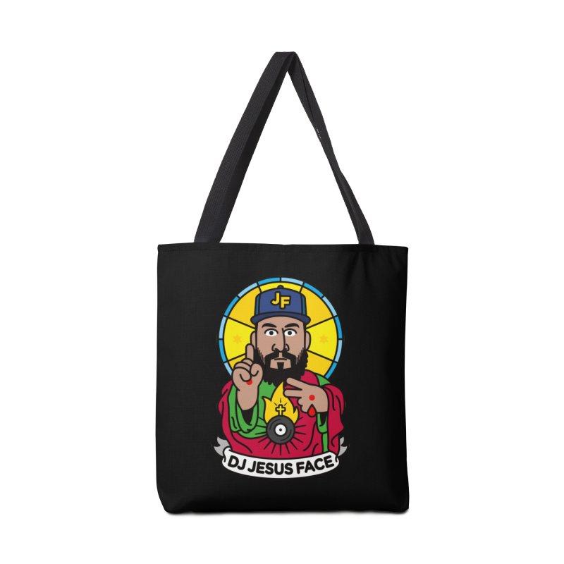 DJ Jesus Face Accessories Bag by SuperHappyMagic