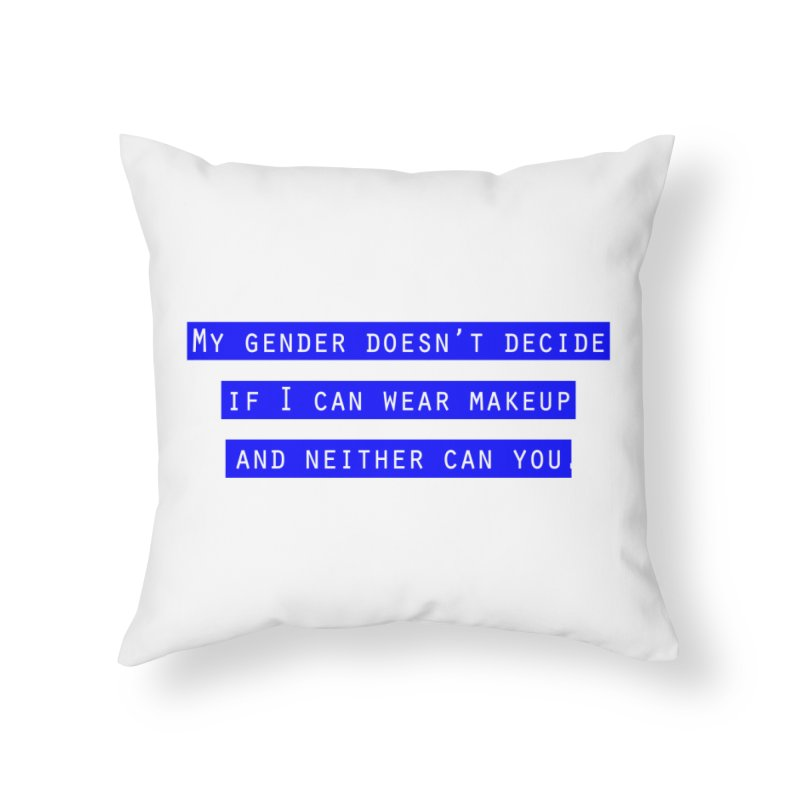 Gender Bender Home Throw Pillow by Super Normal Shop