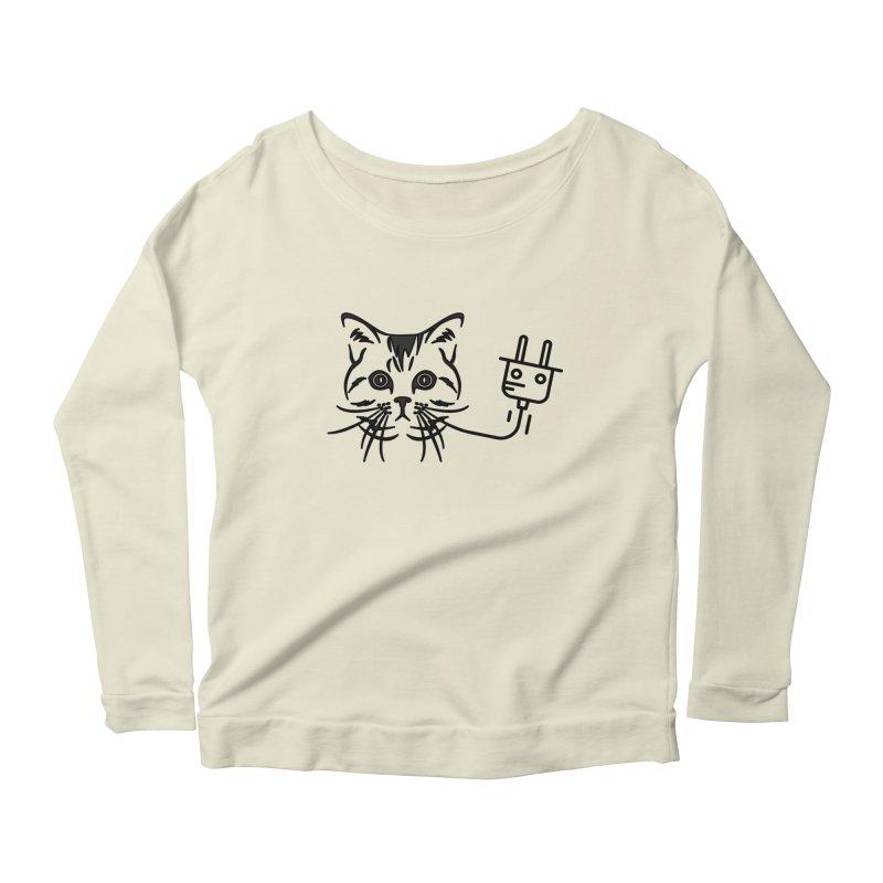 Pussy Power Women's Scoop Neck Longsleeve T-Shirt by Super Normal Shop